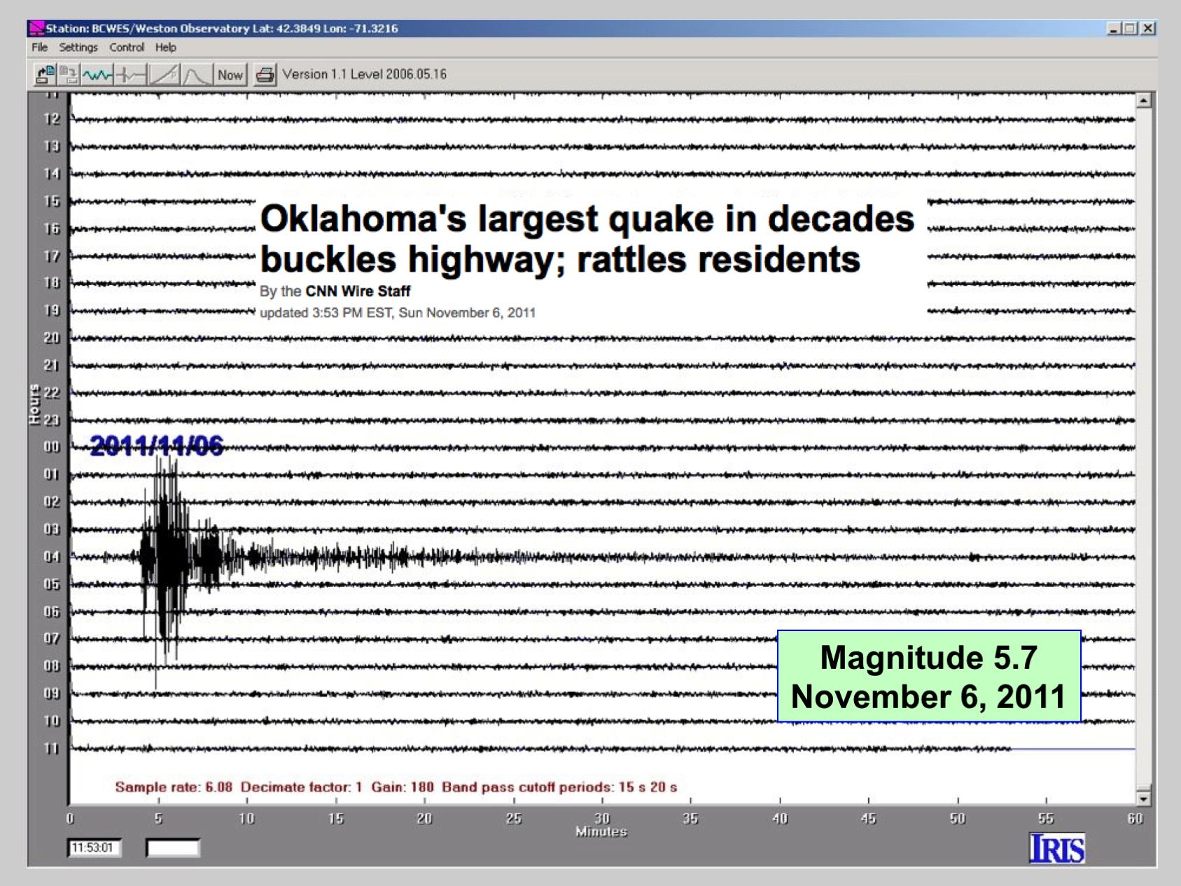 11/06/2011, OK quake